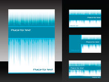 Vector template for business design. Folder and set of  business card Stock Images