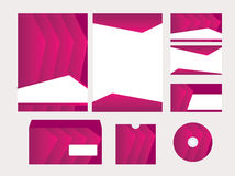 Vector template for business design. Folder and set of  business card Stock Photos