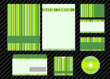 Vector template for business design. Folder and set of  business card Stock Photography