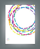 Vector template for a business with multi-colored circles Stock Images