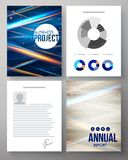 Vector template for a business project and report Stock Photo