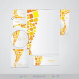 Vector template for business or website. Modern design, retro st Royalty Free Stock Image