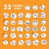 Vector template of catering company logo. Stock Images