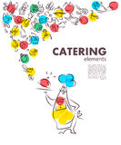 Vector template of catering company logo. Royalty Free Stock Photo
