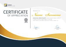 Vector template for certificate,modern diploma Stock Image
