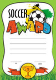 Vector template certificate soccer championship. child diploma to be awarded to the winners, players, the best Royalty Free Stock Image