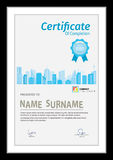 Vector template for certificate wite detial city scape. Stock Photography
