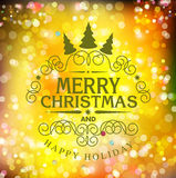 Vector template Christmas typography. Template for Christmas car Stock Images