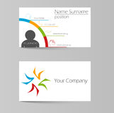 Vector template colorful business card Stock Photography