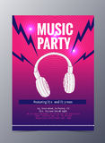 Vector template for a concert poster  and  music party flyer Stock Images