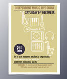 Vector template for a concert poster  and  music party flyer Royalty Free Stock Photo