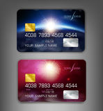 Vector template credit cards with modern design (space) Royalty Free Stock Photography
