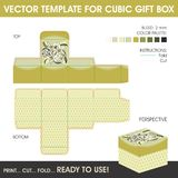 Vector template for cubic gift box Royalty Free Stock Photo