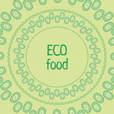 Vector template cucumber green circle eco food royalty free stock photos