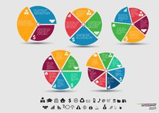 Vector Template for cycle diagram, graph, presentation and round chart Royalty Free Stock Photography