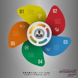 Vector Template for cycle diagram, graph, presentation and round chart Stock Images