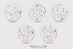 Vector Template for cycle diagram, graph, presentation and round chart Stock Photography