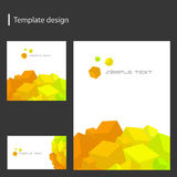 Vector template design Royalty Free Stock Images