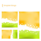 Vector template design. EPS 8.0 version available stock illustration