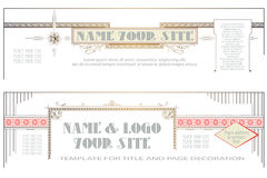 Vector template for the design of advertisements, flayer, web Royalty Free Stock Photography