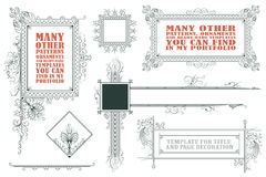 Vector template for the design of advertisements, flayer, web Royalty Free Stock Photo