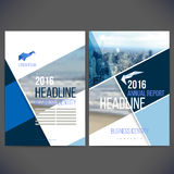 Vector template design annual report 2017 with background, brochure, web sites, page Royalty Free Stock Images