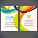 Vector template design Brochure. Flyer,Layout template,Web sites, page Royalty Free Stock Images