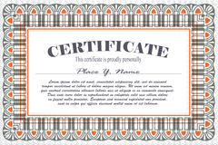 Vector template for the design of certificate, advertisements, i Stock Image