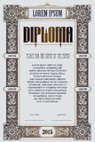 Vector template for the design of diploma, advertisements, invitations or greeting cards Royalty Free Stock Photo