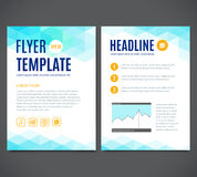 Vector template design of flyer, brochure, cover book, page. Abstract colorful geometric background. Stock Image