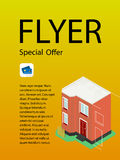 Vector template design of flyer for building and business. Stock Photo