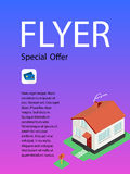 Vector template design of flyer for building and business. Stock Photos