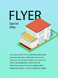 Vector template design of flyer for building and business. Royalty Free Stock Image