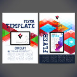 Vector template design with a mobile phone Photographie stock
