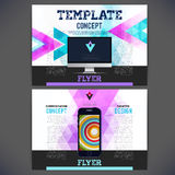 Vector template design with a mobile phone Photographie stock libre de droits