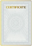 Vector template of detailed certificate Stock Images