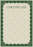 Vector template of detailed certificate Royalty Free Stock Image