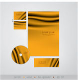 Vector template. Draper design. Sizable and editable friendly. Stock Images