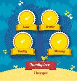 Vector template for family tree Royalty Free Stock Image