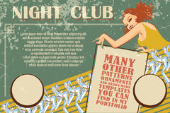 Vector template flyer advertising a nightclub, shows, parties Stock Photography