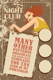 Vector template flyer advertising a nightclub, shows, parties Stock Photos