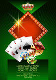 Vector template of flyer for event in casino Royalty Free Stock Photography