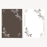 Vector template for folder, business card and Stock Image