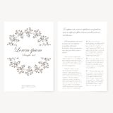 Vector template for folder, business card and Royalty Free Stock Photos