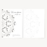 Vector template for folder, business card and Royalty Free Stock Photo