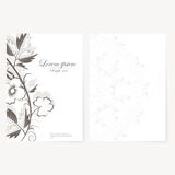 Vector template for folder, business card and Royalty Free Stock Images