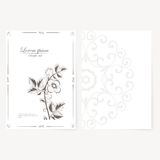 Vector template for folder, business card and Royalty Free Stock Photography