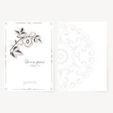Vector template for folder, business card and Royalty Free Stock Image