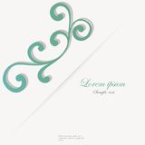 Vector template for folder, business card and Stock Images