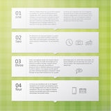 Vector template - four choices, steps. Stock Images